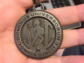 Graduation Medallion - 2015 in Polished and Bronzed Black Steel