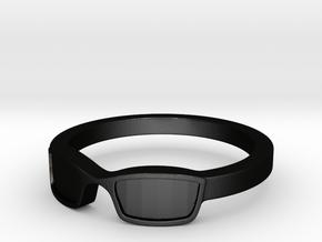 Glasses Ring Size 8.5 in Matte Black Steel