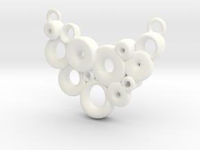 Bubble necklace in White Processed Versatile Plastic