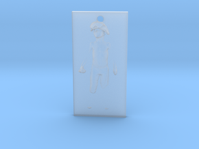 Boy Soldier Panel Pendant in Smooth Fine Detail Plastic
