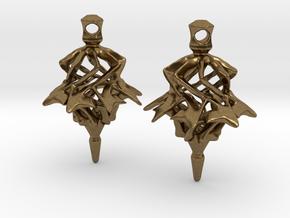 Surreal Lantern Earrings - Standard Pair in Natural Bronze
