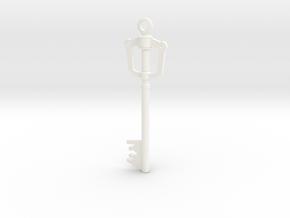 Kingdom Key Pendant in White Processed Versatile Plastic