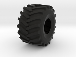 Terra-Tire-66x43x25-Photo.stl in Black Strong & Flexible