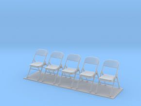 Metal Folding Chair 1/35 scale UNFOLDED set of fiv in Frosted Ultra Detail