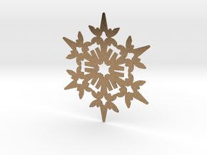 Wings Snowflake - Flat in Natural Brass
