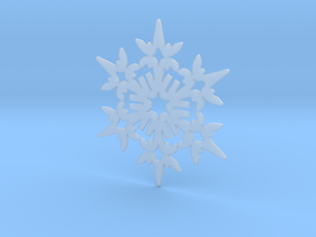 Wings Snowflake - Flat in Smooth Fine Detail Plastic
