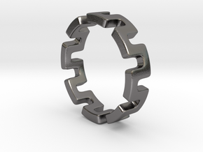 Concept Ring Size 8 in Polished Nickel Steel