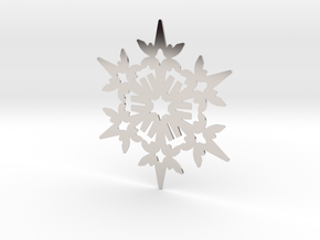 Wings Snowflake - Flat in Platinum