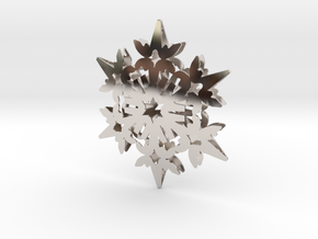 Wings Snowflake - 3D in Platinum