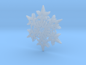 Wings Snowflake - 3D in Smooth Fine Detail Plastic