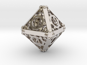 Steampunk d8 in Platinum