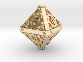 Steampunk d8 in 14K Yellow Gold