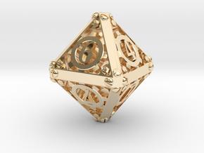 Steampunk d8 in 14K Gold