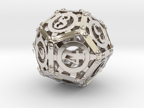 Steampunk d12 in Platinum