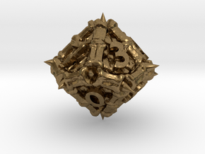 Dragon d10 in Natural Bronze