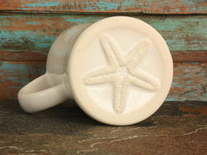 Starfish Mermaid Mug in Gloss White Porcelain