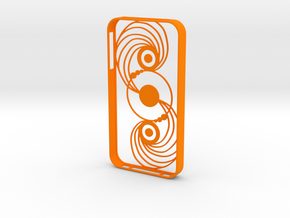 Crop Circle IPhone Case 4s in Orange Processed Versatile Plastic