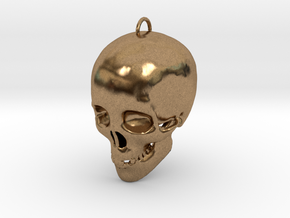 Skullhollow Pendant in Natural Brass