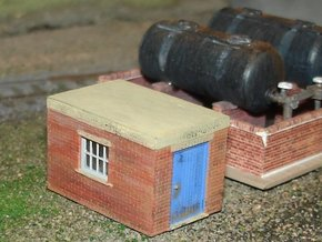 Pump Shed 2mm/ft (N scale) in Smooth Fine Detail Plastic