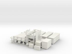S Scale Bedroom Furniture in White Natural Versatile Plastic