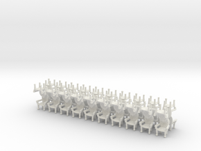 Parlor Chairs HO Scale in SWF X40 in White Natural Versatile Plastic