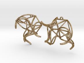 Aster Earrings in Polished Gold Steel