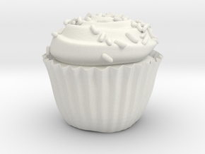 Cupcake, With Sprinkles in White Strong & Flexible