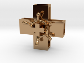 PositiveXSplash in Polished Brass