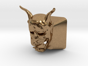 Cherry MX Hannya Keycap (with cutouts for LEDs) in Natural Brass