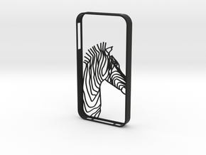 Zebra Head Case Iphone4s in Black Natural Versatile Plastic