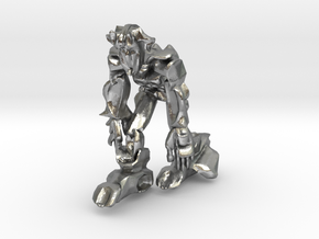 Scar Ape like Robot in Natural Silver