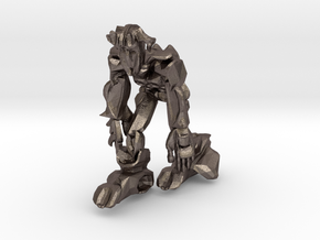 Scar Ape like Robot in Polished Bronzed Silver Steel