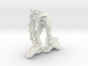 Scar Ape like Robot in White Natural Versatile Plastic