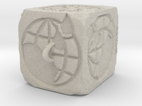 Sandstone ROTARY Ornament 2014 (Thicker) in Natural Sandstone