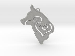 Love My Puppy Pendant in Aluminum
