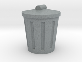 Trash Can, Miniature in Polished Metallic Plastic