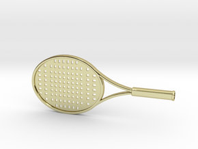 Tennis Raquet - 1:14 in 18k Gold Plated Brass