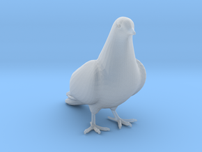 Bird No 2 (Dove) in Smooth Fine Detail Plastic
