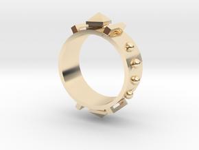 Edwardian Guard III Ring - Sz. 8 in 14K Yellow Gold