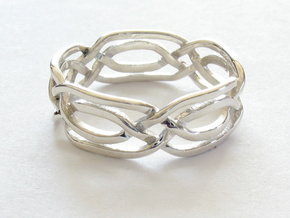 Celtic Eyes ring in Fine Detail Polished Silver