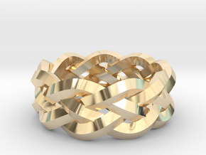 Four-strand Braid Ring in 14K Yellow Gold