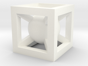 Cube charm in White Processed Versatile Plastic