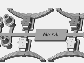 MR Oil Axleboxes, springs and buffers in Smooth Fine Detail Plastic
