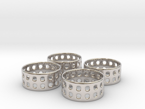Double Bubble Napkin Rings (4) in Platinum