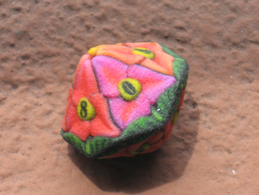 Flower D10 (Small) in Full Color Sandstone