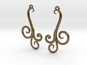 Wind Curls Earrings in Natural Bronze