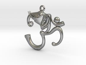 Ganesh Pendant in Natural Silver