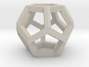 Dodecahedron Small in Natural Sandstone