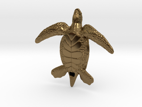 Sea Turtle in Polished Bronze