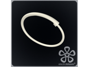 Snap bangle. in White Strong & Flexible